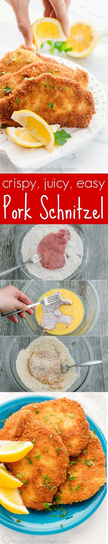 ¡El escalope alemán de cerdo es una receta fácil, apta para niños y perfecta para las noches ocupadas! Los escalopes de cerdo son chuletas de cerdo con una corteza crujiente y un centro jugoso.