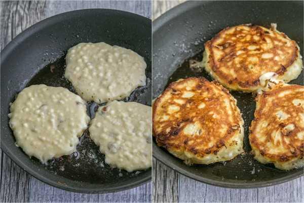 Panqueques esponjosos de queso cottage: ingredientes simples, fáciles de hacer y ¡se calientan muy bien! El | natashaskitchen.com