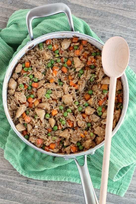 Pollo y arroz teriyaki de DessertNowDinnerLater.com