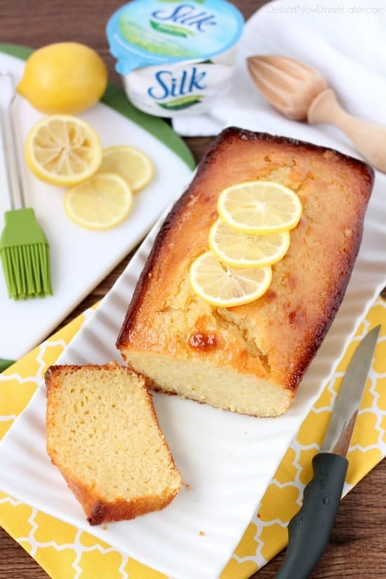 Try this delicious ultra-moist, dairy-free lemon cake with the Silk Dairy-Free yogurt alternative.