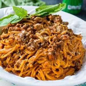Spaghetti de queso crema instantáneo