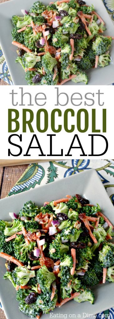 Você pode encontrar a melhor receita de salada de brócolis aqui. É crocante, doce e salgado, tudo combinado em uma deliciosa salada. Todo mundo adora esse prato cremoso.