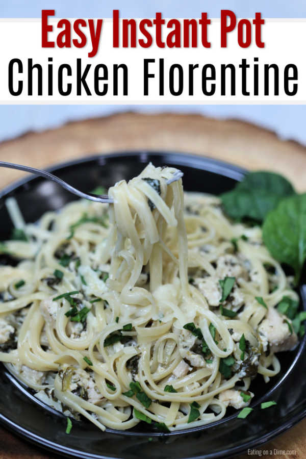 Instant Pot Chicken Florentine Recipe é uma ótima idéia para jantar com queijo, espinafre e frango macio. Tudo combina para a melhor comida de conforto.