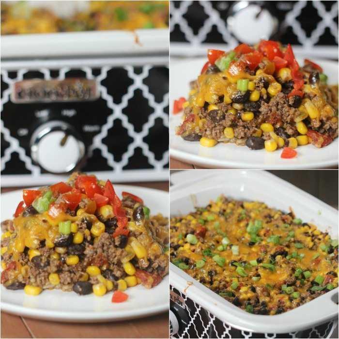¿Necesita una receta fácil de olla de barro? Prueba esta receta de cazuela de tacos mexicanos. ¡Esta receta fácil de cazuela de taco de res es increíble!