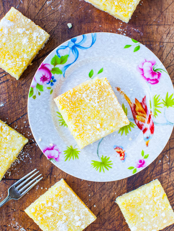 Las mejores barras de limón: ¡buenas barras de limón anticuadas que tienen un gran sabor a limón, sin ser demasiado agrias o demasiado dulces!