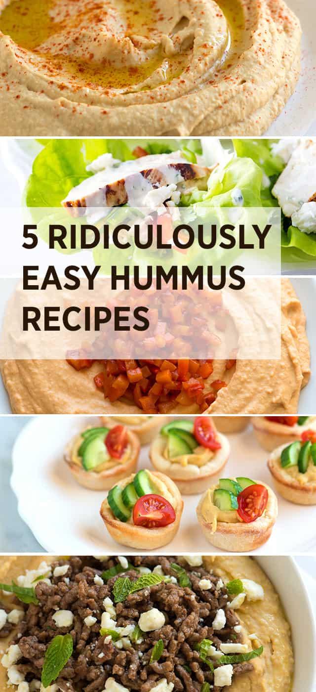 5 recetas de hummus ridículamente fáciles
