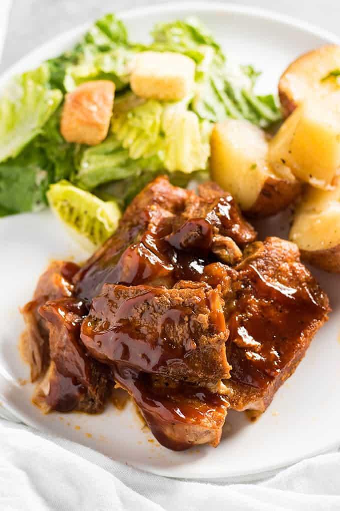¡Las costillas instantáneas estilo country hacen una cena rápida y fácil entre semana!