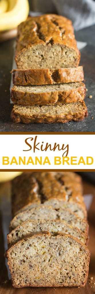 Este flaco pan de plátano es increíblemente húmedo, perfectamente dulce y delicioso, nunca se sabe que es