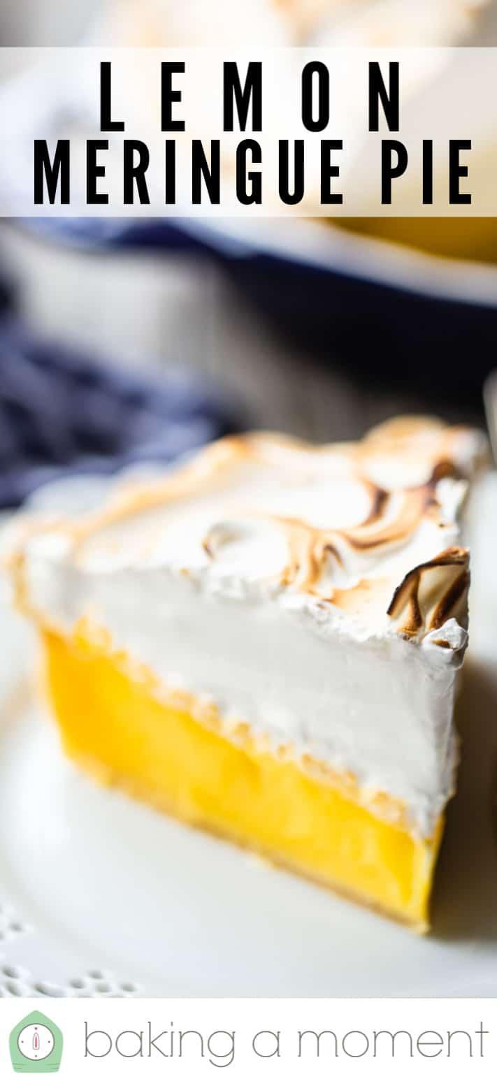 Receta de Pastel de merengue de limón.