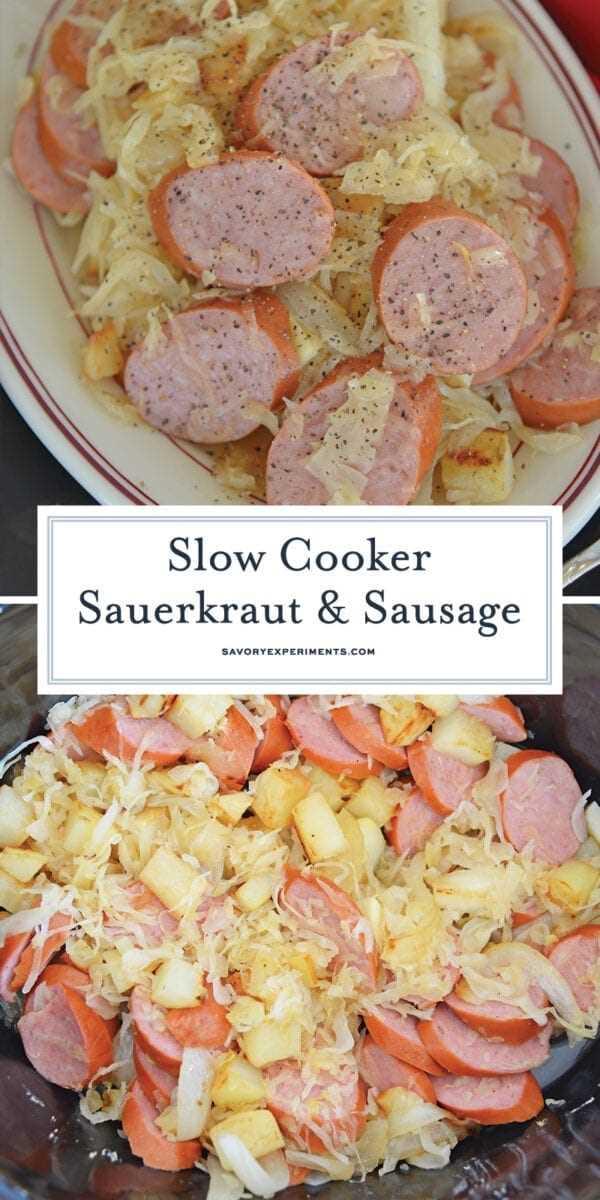 Crock Pot Sauerkraut and Sausage para Pinterest