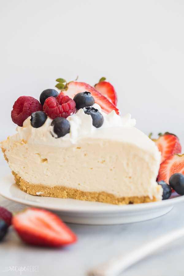 receta de tarta de queso fácil de cerca