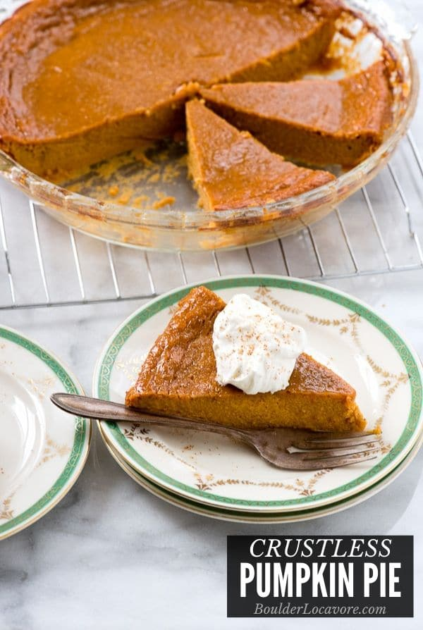 Imagen del título del pastel de calabaza sin corteza