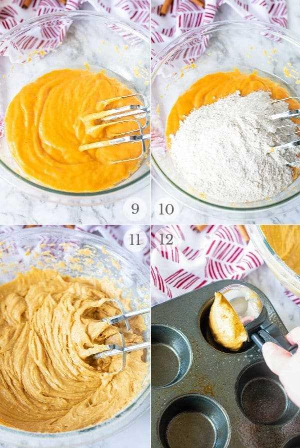 crema de calabaza queso muffin receta pasos collage de fotos 3a