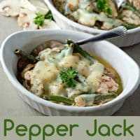Receta de cazuela de pollo Pepper Jack para dos