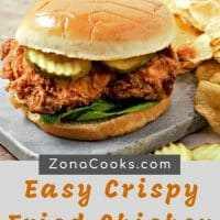 Receta de sándwiches de pollo frito crujiente fácil