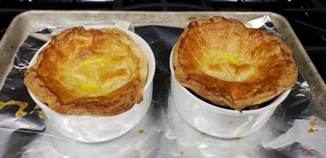 dos pasteles de ternera al horno