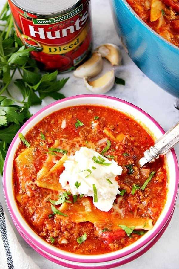 sopa de lasaña B Easy Sopa de lasaña