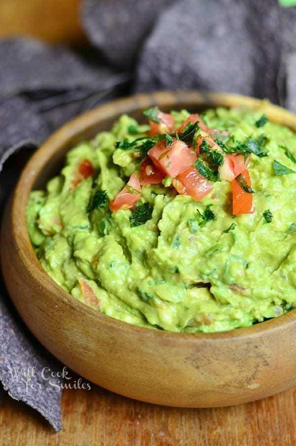 Increíble receta de guacamole 1 de willcookforsmiles.com