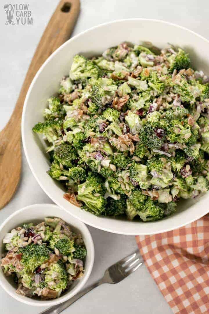 Ensalada de brócoli dulce baja en carbohidratos receta suprema