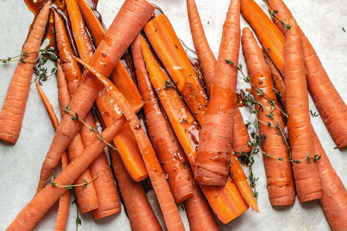 Receta de zanahorias asadas balsámicas con miel 2