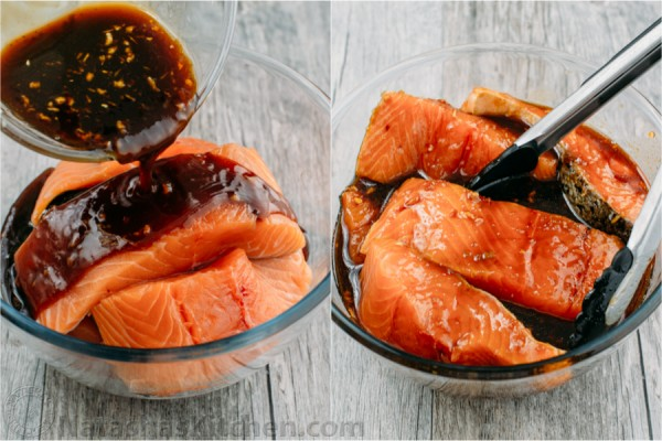 This teriyaki salmon recipe is a winner! Simple ingredients without prolonged marinade. A flaky, juicy and delicious recipe for teriyaki glazed salmon.
