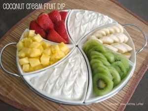 Dip de Fruta con Crema de Coco
