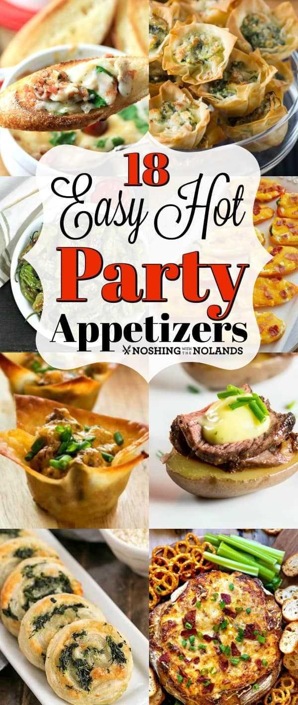¡18 recetas fáciles de aperitivos para fiestas calientes son perfectas para el entretenimiento navideño! #fácil #hotappetizers #party #partyappetizers