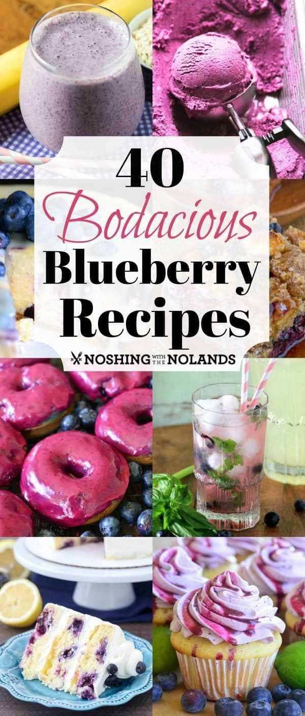 40 receitas de mirtilo Bodacious são uma maneira perfeita de desfrutar de mirtilos no seu melhor! Experimente uma ou todas essas receitas incríveis! # mirtilos # sobremesa # smoothies # café da manhã #salads