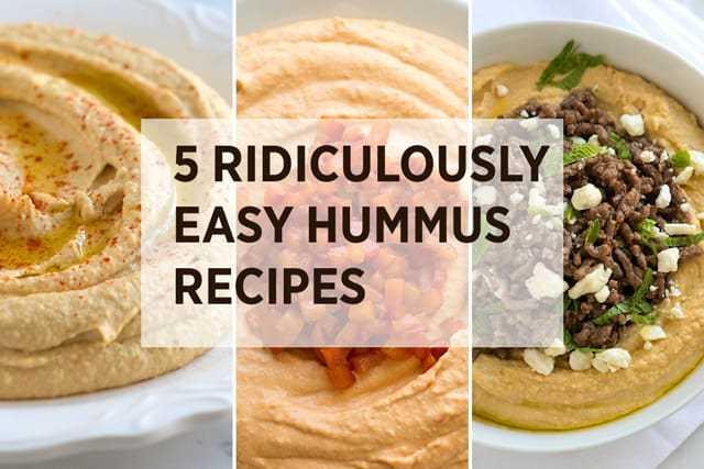 5 recetas fáciles de hummus