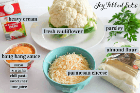 cauliflower ingredients bang bang