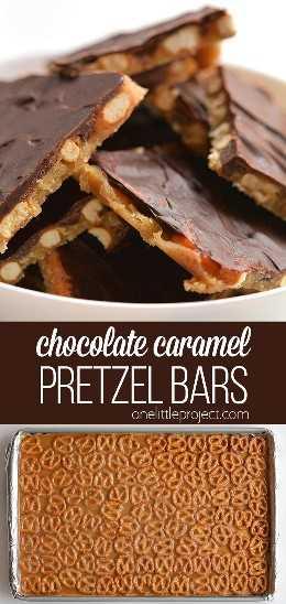 Essas barras de pretzel de chocolate e caramelo são TÃO BOM e realmente fáceis de fazer! Com apenas 4 ingredientes, eles são um deleite salgado, crocante e viciante!
