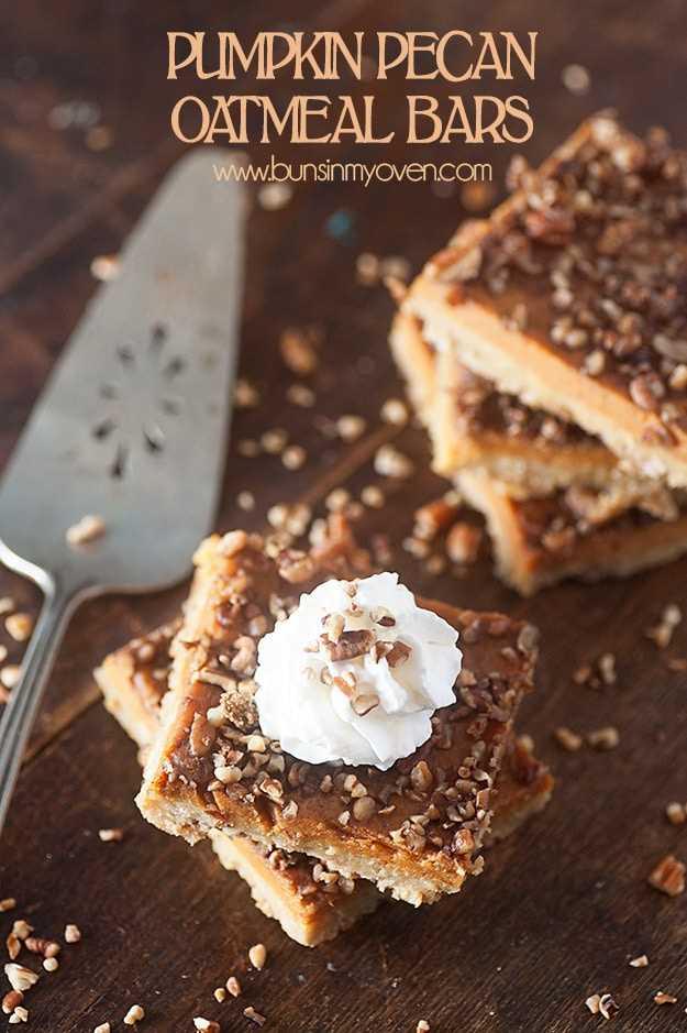 Receta de barras de avena y calabaza con nueces - receta perfecta para el otoño