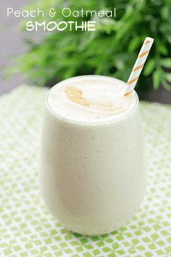 Não há tempo para o café da manhã? Pense de novo! Este smoothie de pêssego e aveia é rápido, fácil e delicioso!