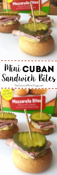 All the flavors of a Cuban sandwich in one tasty bite! The Mini Cuban Sandwich Bites are the perfect snack for game day: easy to make and virtually hassle-free!