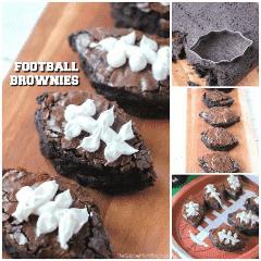 Postres de fútbol brownies Super Bowl Party