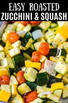 La receta de calabacín asado y calabaza es una de nuestras recetas favoritas y más fáciles de acompañar. Es la receta de sartén perfecta para un delicioso plato de acompañamiento.
