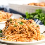 Cazuela de espagueti