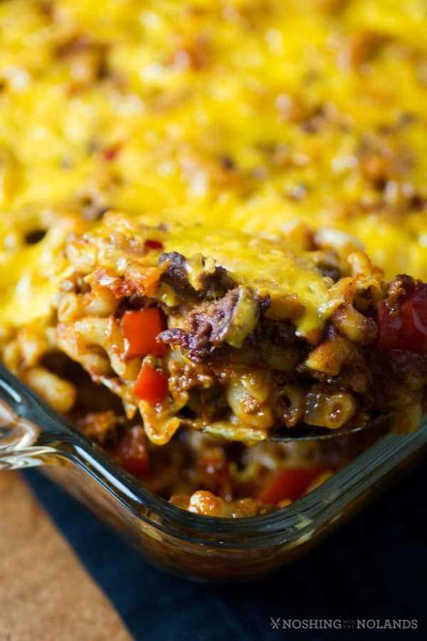 Cheesy Sloppy Joe Macaroni Casserole