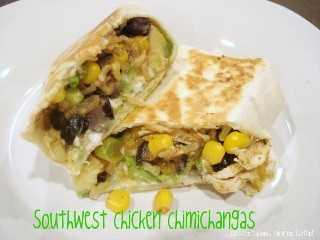Chimichangas de pollo al sudoeste