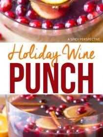 Cócteles de ponche de vino navideño de lote grande