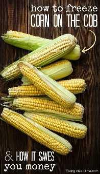 como congelar a espiga de milho