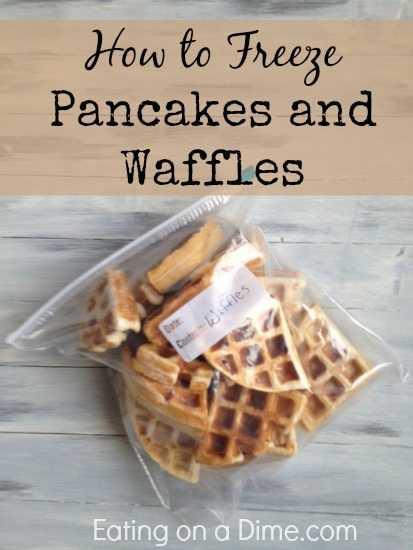 Como congelar panquecas e waffles