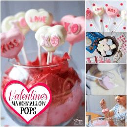 ¡Un dulce día de San Valentín adorablemente dulce! ¡Conversación Heart Marshmallow Pops es una actividad divertida para los niños y el regalo perfecto para amigos, familiares y maestros!