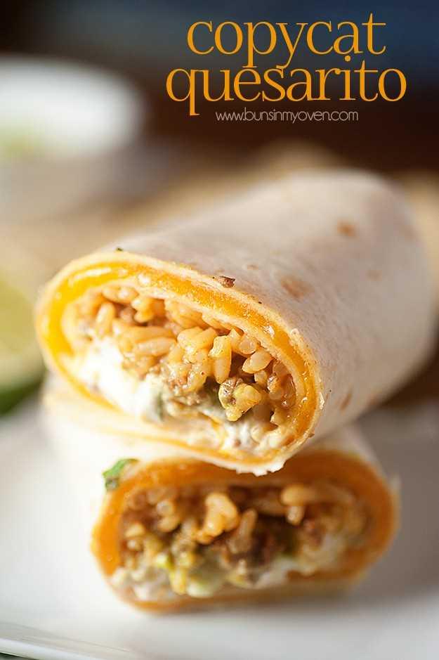 Taco Bell imitador receta quesarito!