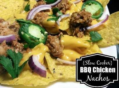Nachos de frango para churrasco cozido lentamente | Receitas latinas!