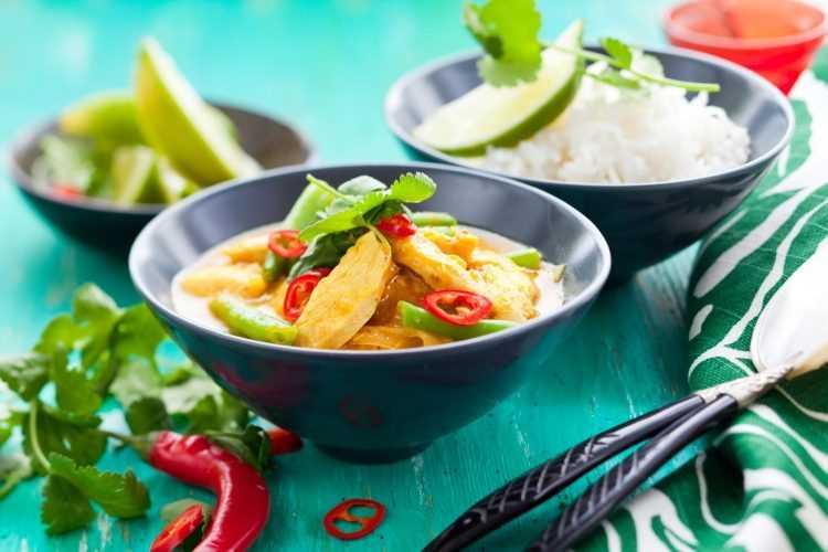 Receta de curry de pavo camboyano