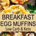 Muffins de desayuno con huevos
