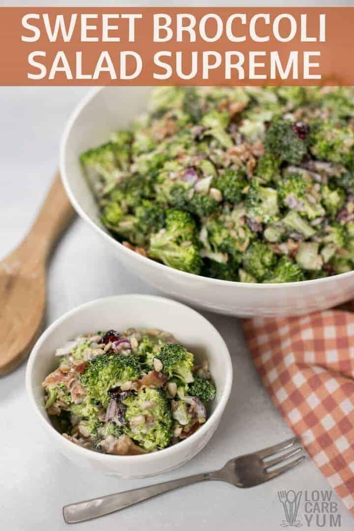 Ensalada de brócoli dulce baja en carbohidratos suprema