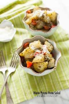 Salada quente de pesto de batata de thelittlekitchen.net