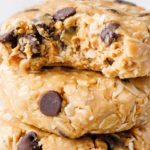 Unbaked cream cheese and peanut butter oatmeal cookies